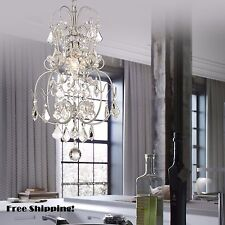 Vintage Crystal Chandelier Ceiling Hanging 1 Light Fixture Lamp Pendant Small