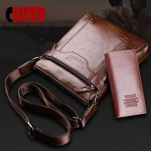 Vintage Shoulder Crossbody Messenger Handbag Men Bag + Purse