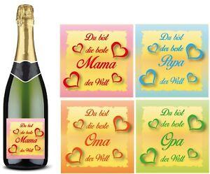 Beste Tante o Aufkleber Sektflasche Bierflasche Geschenk Bester Onkel