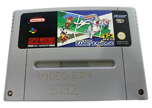 Bugs Bunny Rabbit Rampage Super Nintendo SNES PAL (carro de Grado B)