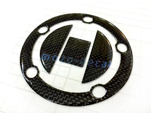 Real Carbon Fiber For GSX650 Bandit SV1000 BK1300 Gas Cap Fuel Tank Cover Decal