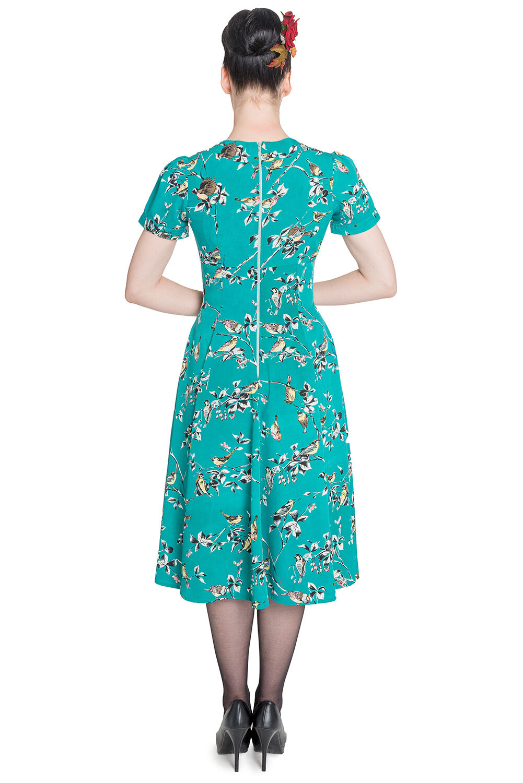 Hell Bunny Birdy 40s 50s Tea Party Pin Up Landgirl WW2 Retro Vintage ...