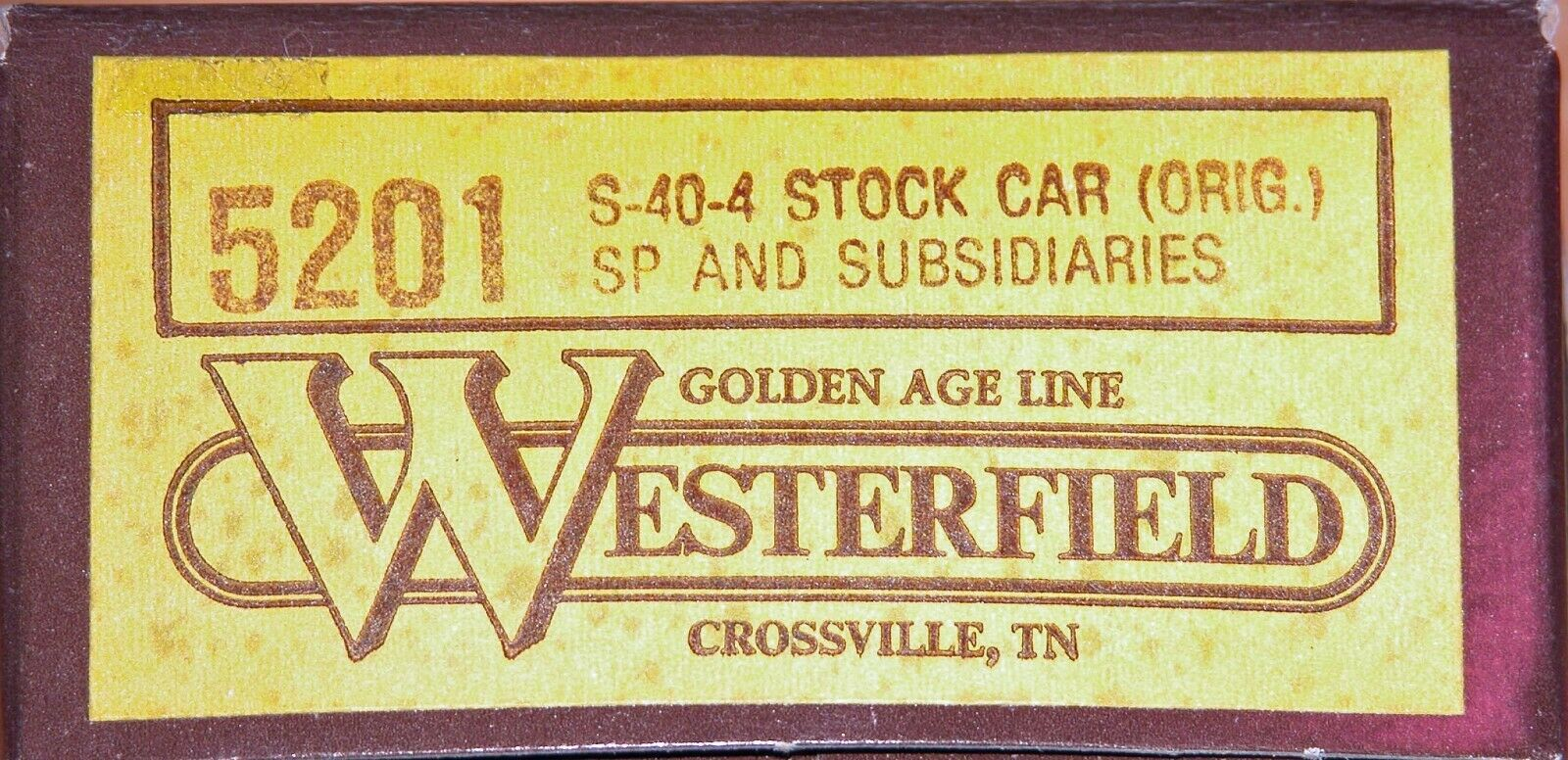 WESTERFIELD 5201 S404 STOCK auto ORIG SP e SUBSIDARIES