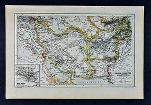 c-1885-Hartleben-Map-Persia-Iran-Afghanistan-Iraq-Bagdad-Teheran-Kabul-Russia