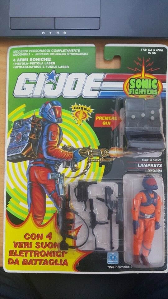 Vintage 1991 G.I.Joe Cobra Enemy Sonic combatiente Lampreys SEALED  ITALY VERSION