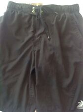 NWT MENS ZEROXPOSUR Swimwear Size Small Swim Suit/Trucks Zipper Black & Yellow
