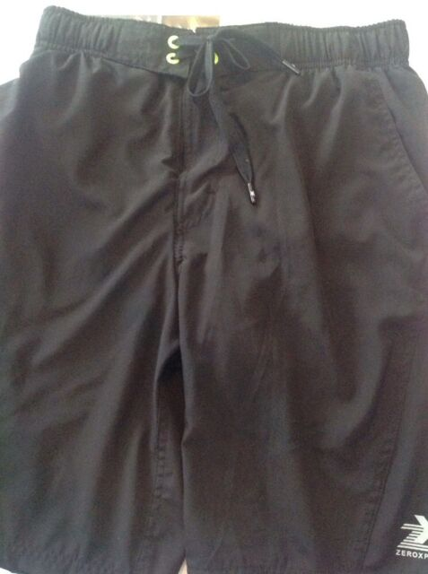 83018a62ab NWT MENS ZEROXPOSUR Swimwear Size Small Swim Suit/Trucks Zipper Black &  Yellow