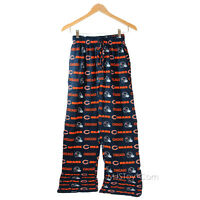 Nfl Chicago Bears Men's Barrier Pajama/lounge/sleep Pants 100% Cotton S/m