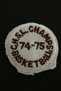 VINTAGE-1970-039-S-SCHOOL-JACKET-BASKETBALL-CHENILLE-PATCH-6-034-X-6-034
