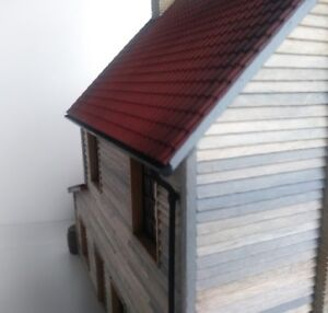O Gauge (7mm) 1:43 Scale Model Railway Building Parts. Roof Guttering X4 Remises Vente