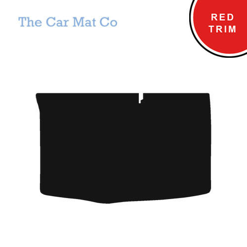 Hyundai I20 2008-2015 Fully Tailored Black Carpet Boot Mat With Red Binding