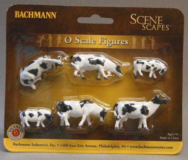 Bachmann Trains Cows Brown and White