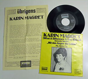 KAREN-MARGRET-2x-70s-DISCO-CV-auf-dt-Fly-Robin-Fly-What-A-Difference-A-Day