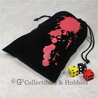 Fantasy Flight Blood Dice Bag Ffs42 Black Velour Rpg Gaming Supply Game Tokens