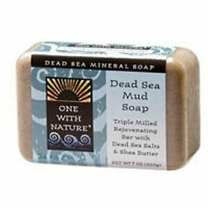 Almond-Bar-Soap-DEAD-SEA-MUD-7-OZ-by-One-with-Nature