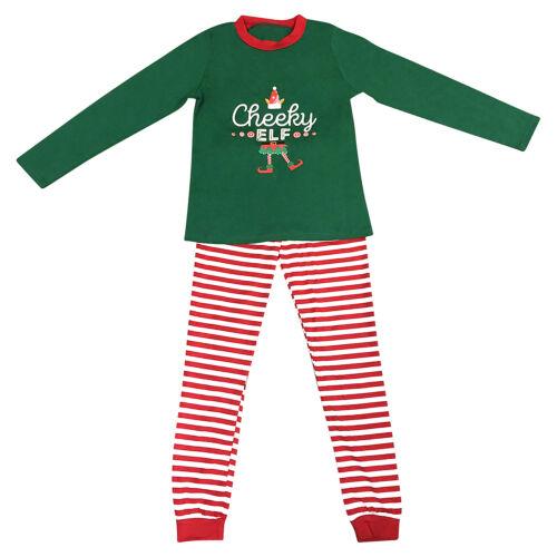 Elf Pyjamas Christmas Family PJs Matching Set Dad Mum Cheeky Little Elves Xmas