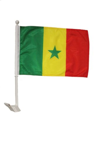 """SENEGAL Country Plain With BULL 12/"""" X 18/"""" Inch CAR STICK FLAG  ..New"""