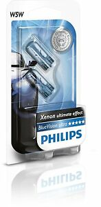 2-Bombillas-Philips-BlueVision-Ultra-W5W-Xenon-Blue-Vision-Lamparas-Senalizacion