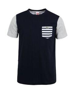 Lacoste-Live-Striped-Front-Pocket-T-Shirt-Navy-Blue-S-M-L-XL