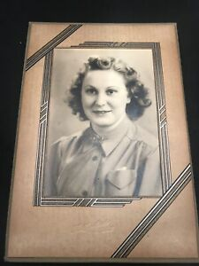cabinet-photo-WW2-Extremely-Rare-Woman-Royal-Canadian-Air-Force-Nice-Portrait