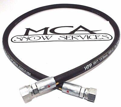 "2PK 1//4/"" x 42/"" Snow Plow Angle Pressure Hose Western UltraMount Snow Plows 56616"
