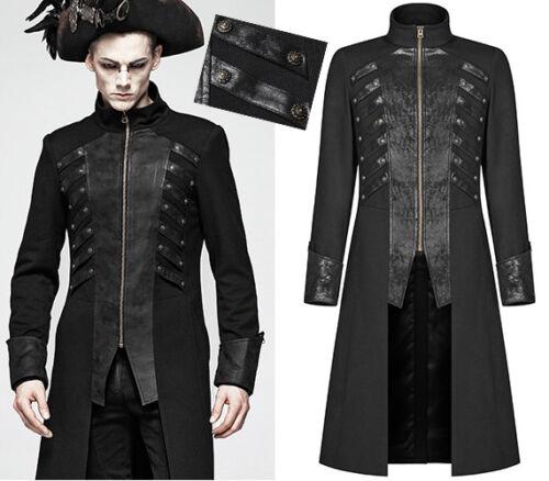 Gothique Punkrave Cuir Craquelé Manteau N Pirate Steampunk Homme YPwn5q