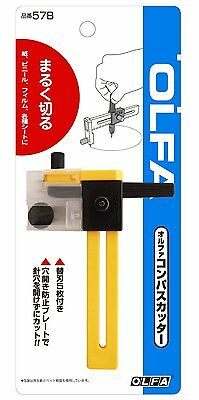 OLFA Safety Rotary Cirgle Compass Cutter cutters with Blades 57B