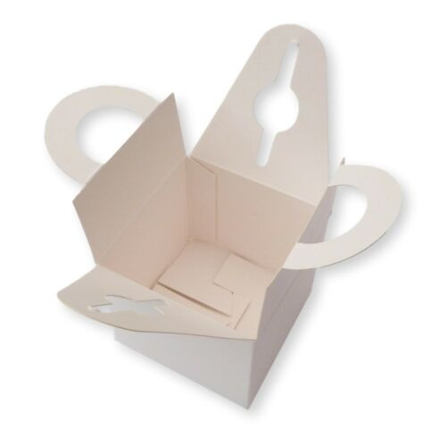 10 WHITE  BALLOON WEIGHT  BOX WEDDING FAVOURS GIFTS CAKE BIRTHDAY PARTY