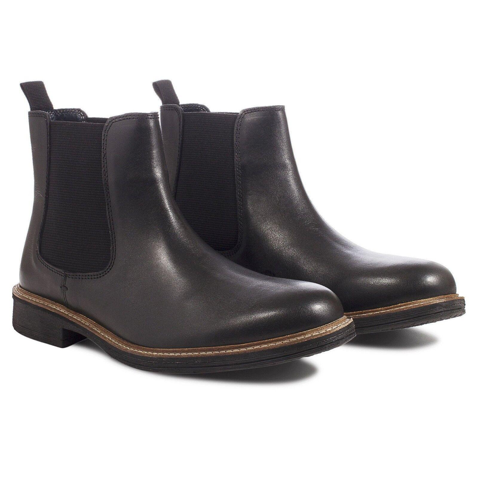 NUOVO Da Uomo Nero Scarpe Stivali Chelsea in Pelle. la consegna veloce RRP  shoes