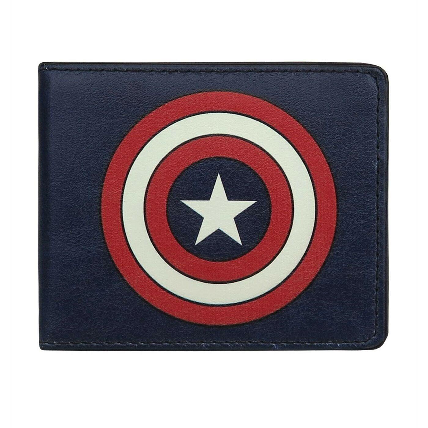 Captain America Shield Navy Bi-Fold Wallet Blue