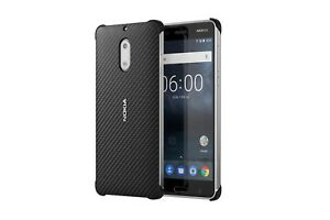 on sale 8da14 a7968 Details about Official Nokia 6 Black Carbon Fibre Design Case / Shell -  CC-802