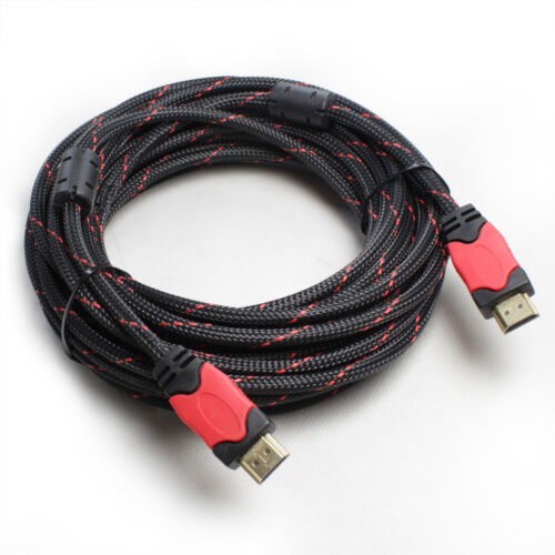 Braided HDMI Cable v1.4 3D High Speed w// Ethernet HEC Full HD 1080p Gold Plated