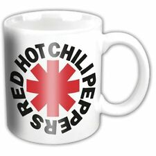 Red Hot Chili Peppers Red White Asterix Band Logo Boxed Coffee Gift Mug Official