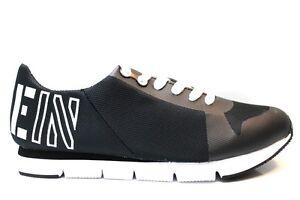 Baskets-JABRE-ENGRENER-S1658-Noir-Blanc-Baskets-Homme-Chaussures-De-Sport