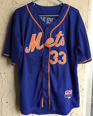 newest 69018 f6fef NY New York Mets alternate HOME Matt Harvey Majestic Stitched Jersey Size  50 | eBay