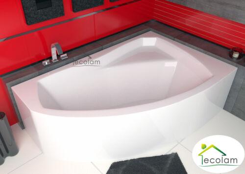 Badewanne Wanne Eckwanne 170 x 110 cm Acryl Schürze Ab-//Überlauf rechts R