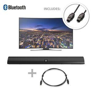 120W TV Sound Bar Bluetooth 2 Channel Optical Audio Wall Mountable