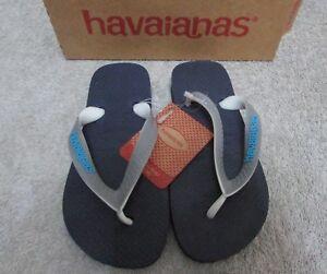 c863417169db4a NEW - Havaianas Kids Flip Flops - Navy Blue   Steel - Size 11-12 UK ...