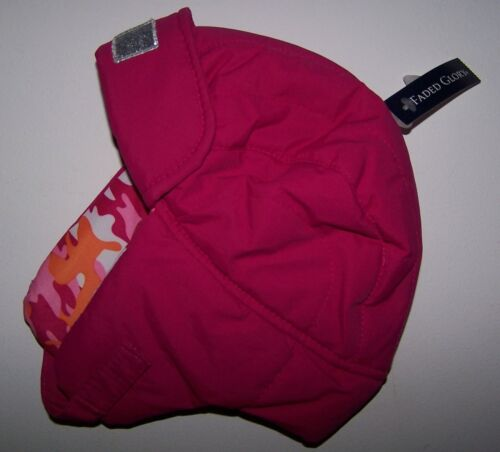 NWT FADED GLORY PINK CAMO WATERPROOF WINTER TRAPPER HAT ONE SIZE Free Shipping