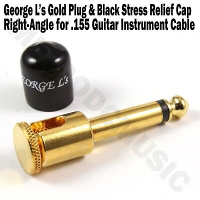 George L/'s BRASS RIGHT-ANGLE Plug /& BLUE STRESS JACKET for .155 Cable Kits