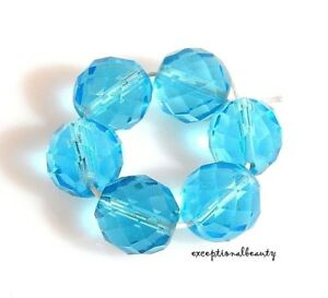 Crystal Clear Round Faceted Czech Glass Fire Polished Beads 4 6 8 10 12mm