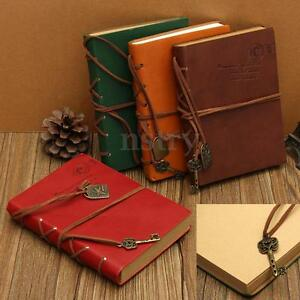 Retro Classic Leather Bound Blank Pages Travel Journal Diary Notebook Sketchbook 969843781616