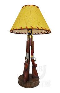 Image Is Loading Western Shotgun 23 034 Table Desk Lamp Light