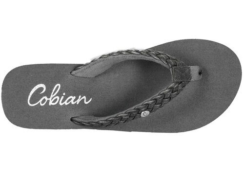 ed757b30f Cobian Braided Bounce Womens Size 6 Black Synthetic Flip Flops Sandals  Shoes