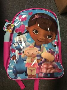 8e9bd408e32 Image is loading Disney-Junior-Doc-McStuffins-Backpack-Toys-Doctor-School-