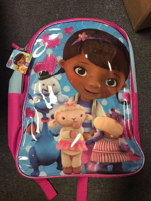 975c7e36df1 Disney Junior Doc McStuffins Backpack Toys Doctor School Chilly Lambie  Hallie