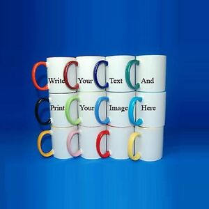 Coloured-Personalised-Mug-Valentine-039-s-Gift-Your-Image-Photo-Text-Design-Printed