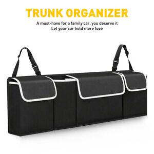 600D Oxford Car Back Seat Storage Bag Trunk Organizer Parts Accessories Black US
