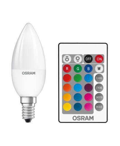 RGBW Remote b25 e14 Bougies Lampe Variateur avec télécommande Osram DEL Star