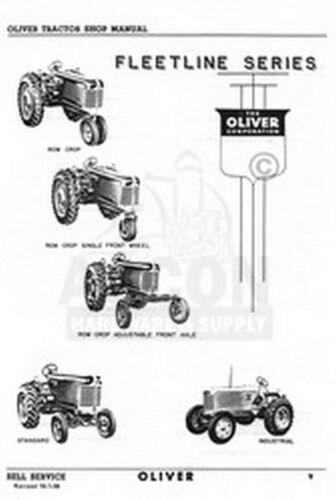 Oliver 55 550 660 770 880 Tachourmeter Service Manual